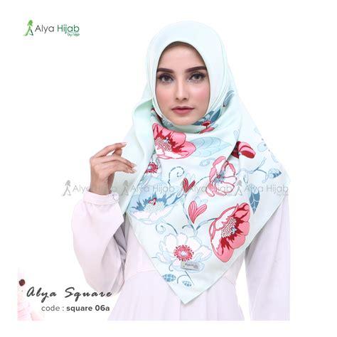 Terbaru Sinsan Segiempat Instant Butterfly 1 jilbab segiempat terbaru alya square alya by naja jual dan produsen