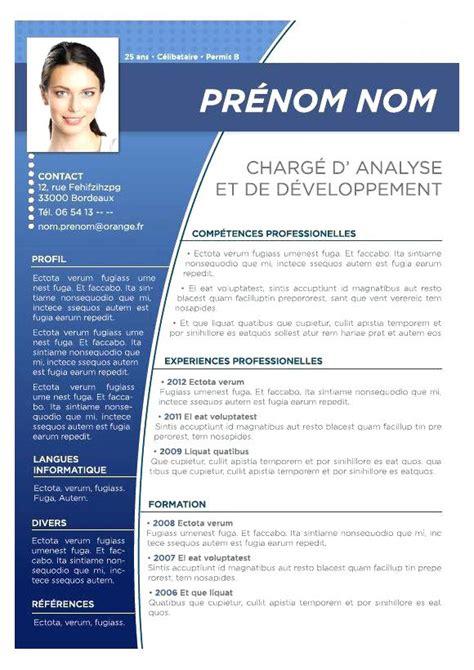 modele de cv gratuit en pdf telecharger modele de cv