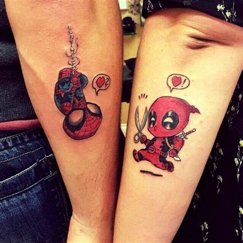 gay couple tattoos pin by raquel panambi torres otazu on deadpool