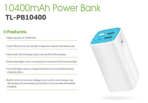 Tp Link 10400mah Power Bank tp link tl pb10400 10400mah power bank tl pb10400 pc gear