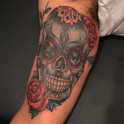 sugar skull tattoo design 125 best sugar skull designs meaning 2018