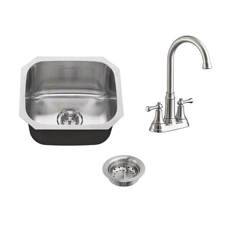 American Standard Stainless Steel Kitchen Sink American Standard Portsmouth All In One Undermount Stainless Steel 16 Quot Single Bowl Kitchen Sink