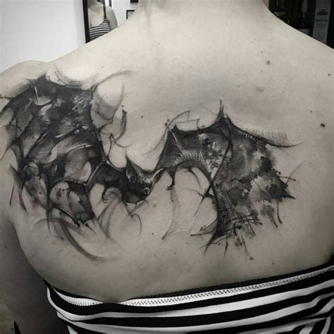 vire bat tattoo designs watercolor bat animal designs bats