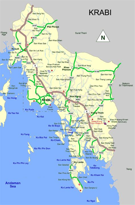 carte de krabi voyages en  krabi krabi thailande