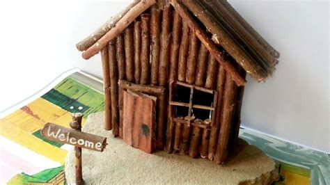 miniature diy projects how to create a miniature wooden cabin diy crafts
