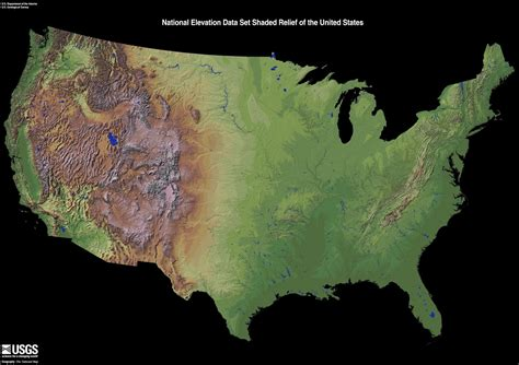 map usa relief national elevation data set shaded relief of the u s from