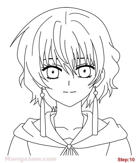 draw and color the baylee jae way characters clothing and settings step by step books how to draw yona from akatsuki no yona mangajam