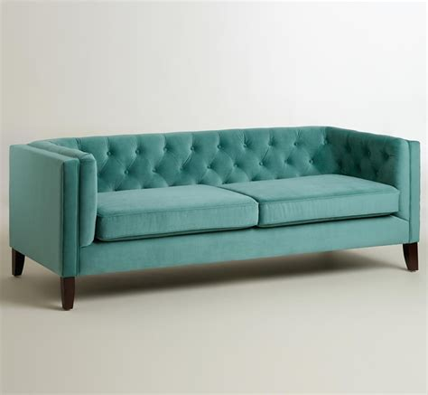 teal tufted sofa sofas everything turquoise