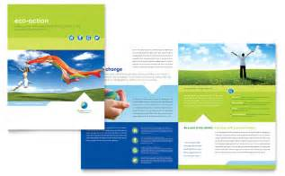 11x17 Brochure Template by Green Living Recycling Brochure Template Design