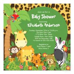 jungle theme baby shower invitations interesting