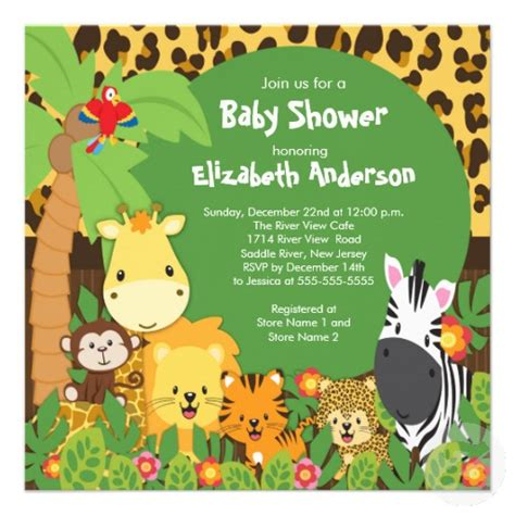 Jungle Themed Baby Shower Invitations by Jungle Theme Baby Shower Invitations Interesting