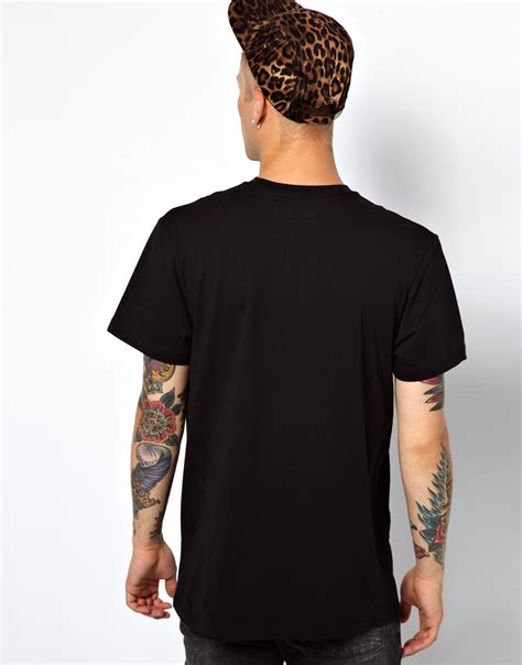 Vans Black Celana Denim Slimfit vans tshirt the wall logo slim fit in black for lyst