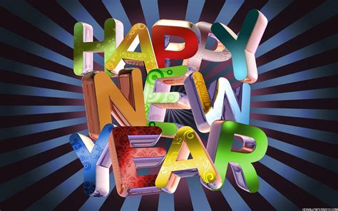 3d happy new year high definition wallpapers high