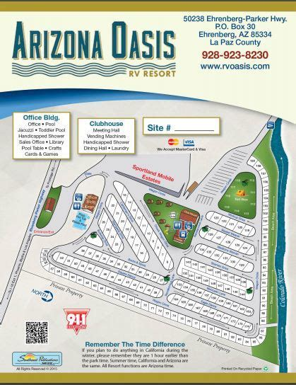 arizona rv parks map map of arizona rv parks my
