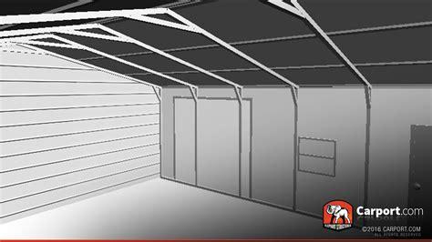 Garage Storage Roof Metal Garage With Vertical Roof 24 X 31 Shop Metal