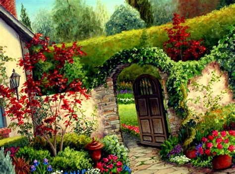 home flower garden designs wallpaper