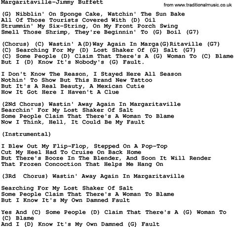 Collection of Margaritaville Lyrics | 137 Best Images About ...