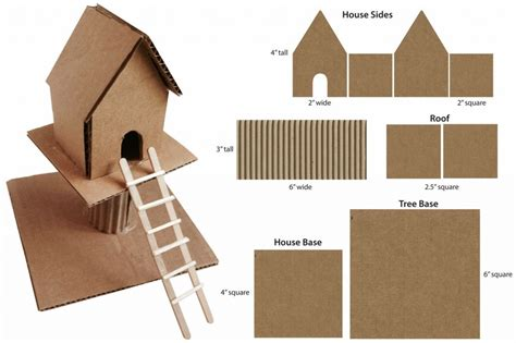 cardboard craft projects cardboard treehouse projects for