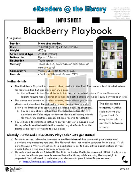 free pdf for blackberry playbook 32gb tablet manual