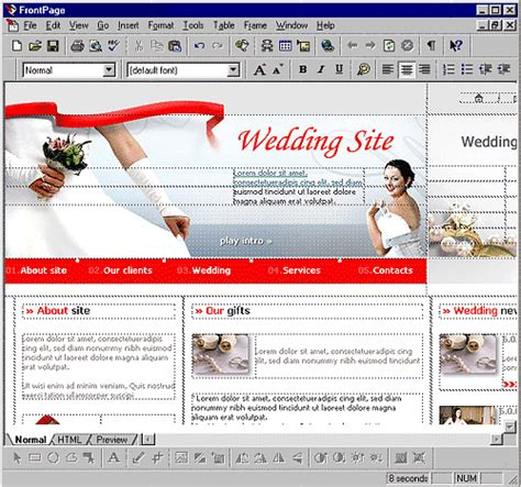 microsoft frontpage templates web templates flash templates web page template design