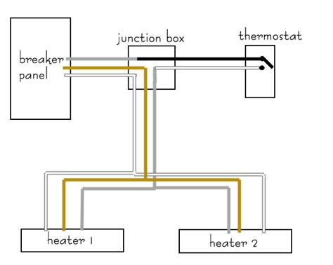 electric baseboard heater wiring diagram electric