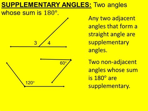 2 supplementary angles today in geometry learning goal 1 5 angle pair