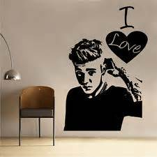justin bieber wall stickers ebay justin bieber never say never vinyl wall decal sticker