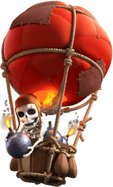 clash  clans hot balloon transparent png stickpng