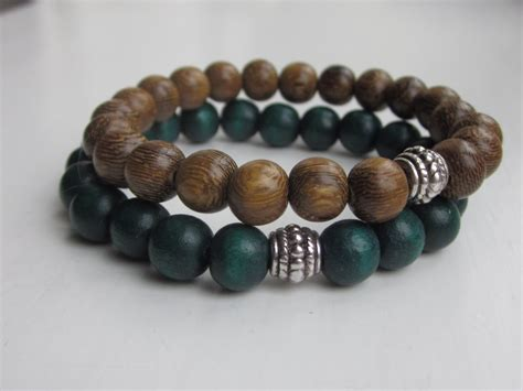 wooden bead bracelets wood bead bracelet mens bracelets simple bracelet wooden