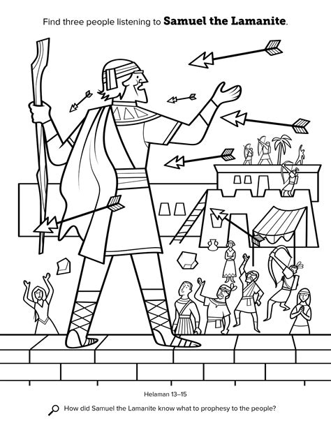 coloring pages book of mormon samuel the lamanite