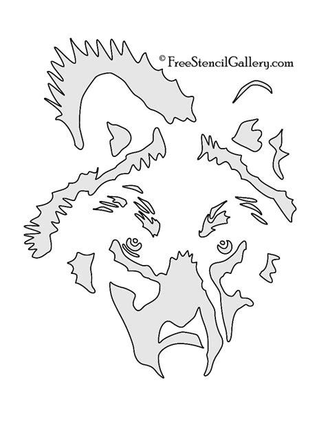 wolf stencil template wolf stencil 02 free stencil gallery