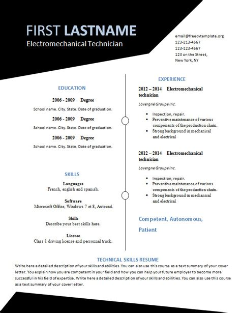 Free Resume Templates You Can Print Free Resume Template That You Can Print 532 To 537 Free Cv Template Dot Org