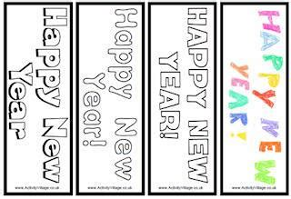 Printable Happy New Year Bookmarks | new year printables