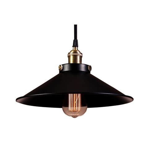 Edison Pendant Light Edison Collection 1 Light Black Indoor Hanging L Ld4007 The Home Depot