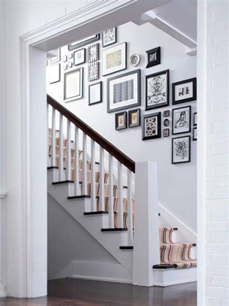 wall gallery ideas stairway gallery wall