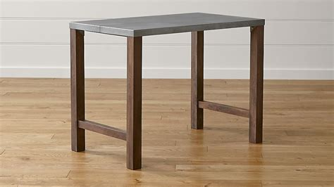 how high is a dining table galvin high dining table crate and barrel