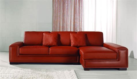 Corner Sofas In Leather Tassonne Leather Corner Sofa Contemporary Style Delux Deco