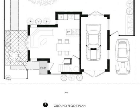 floor plan of a craftsman style laneway house in vancouver