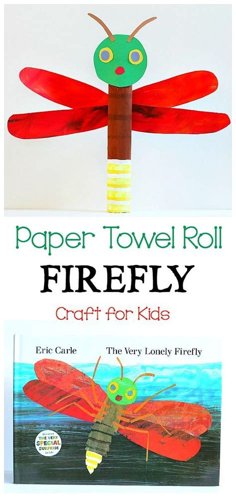 Paper Towel Crafts For Preschoolers - paper towel roll firefly craft for fireflies craft