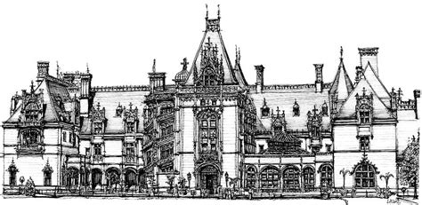biltmore house coloring pages biltmore house in asheville drawing by building art