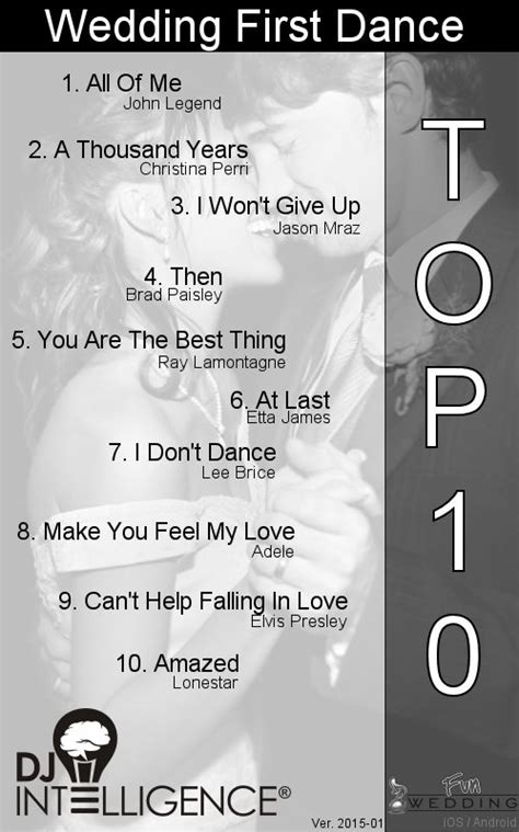 Wedding Song List For Reception by Best 25 Top 10 Wedding Songs Ideas On Top