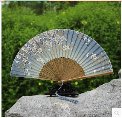 chinese fans for sale factory direct sale the plum blossom model hand fan cheap