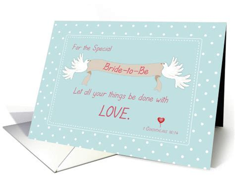 Bridal Shower Doves, Religious card (1141662)