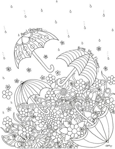 april showers coloring pages coloring page april showers bring may flowers printable