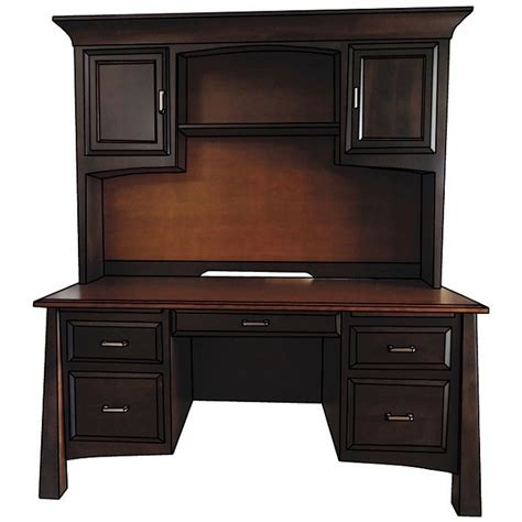 Rustic Dining Room Sets Englehart Double Pedestal Desk With Hutch Amish Crafted