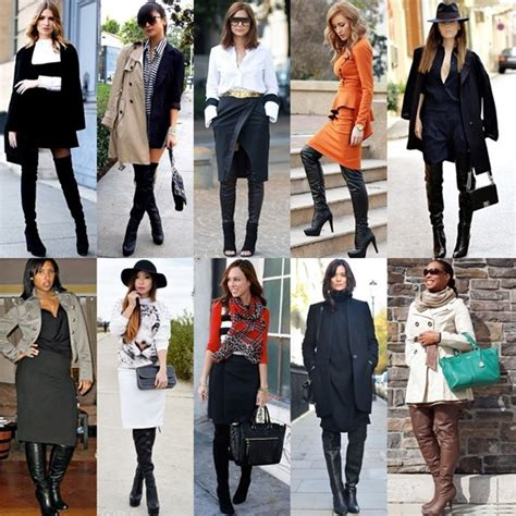 how to wear boots in various styles and heights thigh