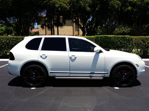 porsche suv white 2004 white porsche cayenne turbo 77k miles 22 quot wheels