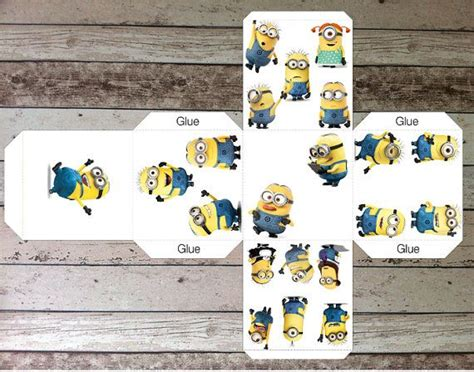 printable dice box despicable me minions printable birthday favors dice box