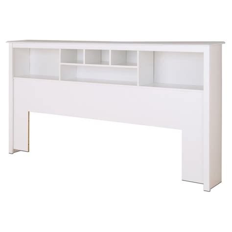 king bookcase headboard in white wsh 8445
