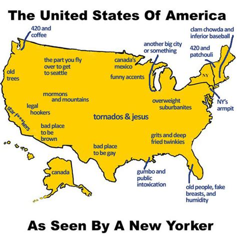 How To Find In The Usa United States As Seen By A New Yorker